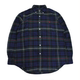POLO RALPH LAUREN L/S CHECK SHIRTS (CLASSIC FIT) NAVY/GREEN
