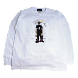 re:create ORIGINAL L/S T-SHIRTS (re:create  & WEST HARLEM) WHITE