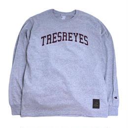 TRESREYES L/S T-SHIRTS (ROOTS MATES) H.GREY
