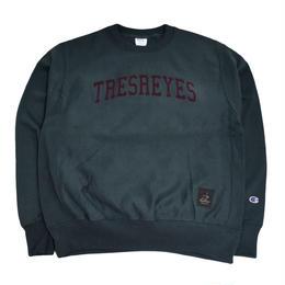 TRESREYES CREW NECK SWEAT (ROOTS MATES) D.GREEN
