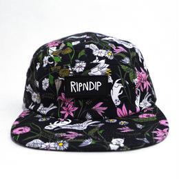 RIPNDIP 5PANEL CAP (NERM FLOWER) BLACK