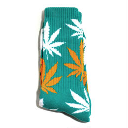 HUF ORIGINAL SOCKS (PLANT LIFE) JADE/ORANGE