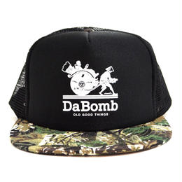OldGoodThings 5PANEL MESH CAP (re:create LIMITED [DA BOMB]) BLACK / CAMO