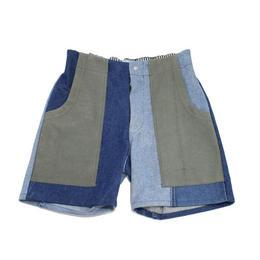 Denim short pants②