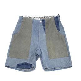 Denim short pants④