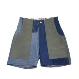 Denim short pants①