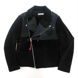デニムライダースジャケット/サイズM/ブラック/№③