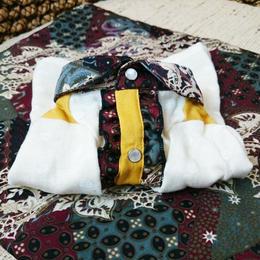 [セットでお得💛]バティック×ダブルガーゼの長袖フリルシャツ&カフェマットset♡