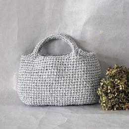 裂き編みバッグ 横長マルシェ