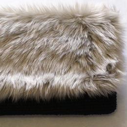 ファー付きクラッチバッグ/ショルダー/裂き編みバッグ