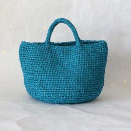 裂き編みバッグ マルシェ(Lサイズ)ターコイズブルー