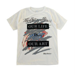 Rhythmor〔リズモア〕リメイクTシャツ WHITE