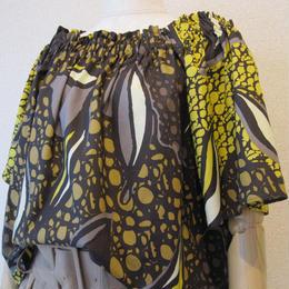 KOYUKI print blouse yellow