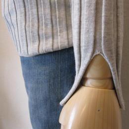 SONO   wide rib knit gray