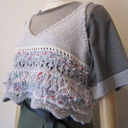 COOHEM FANCY SCALLOP KNIT  gray