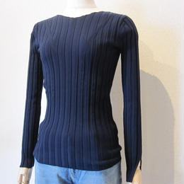 SONO   wide rib knit      navy