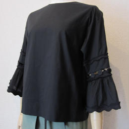 Andcurtaincall button blouse black