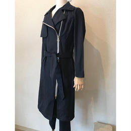 spoom trench coat navy