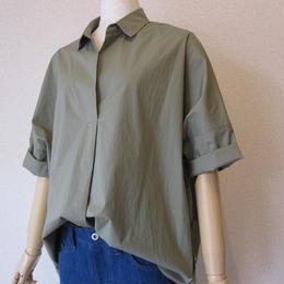dollysean    typewriter blouse khaki