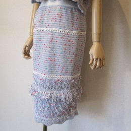 COOHEM FANCY SCALLOP KNIT skirt gray