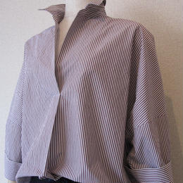 dolly-sean  stripe blouse violet