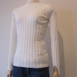 SONO   wide rib knit white