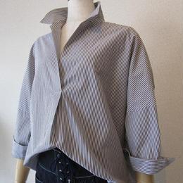 dolly-sean   stripe blouse gray