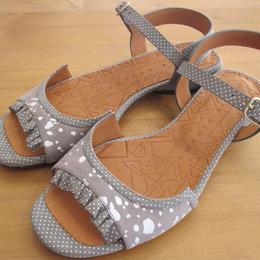 CHIEMIHARA dot frill sandal