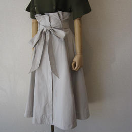 ORIVER SAT high waist skirt graybeige