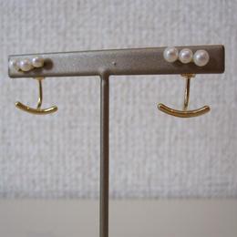 FULLOFGRACE pearl pierced earrings