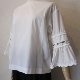 Andcurtaincall button blouse white