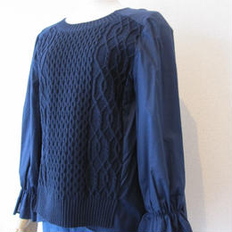 SONO cableKnit combination blouse