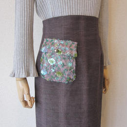 leur logette  antique beads skirt