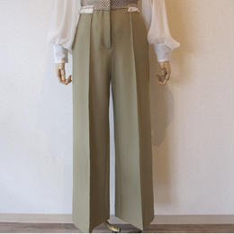 leur logette  wide pants beige