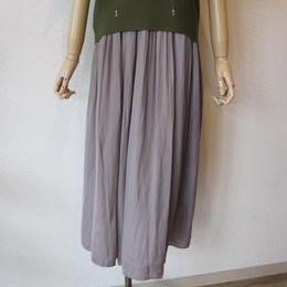 Doneeyu   satin maxi skirt graybeige
