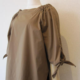PARLMASEL ribbon blouse brown