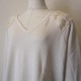 dolly-sean  chiffon knit white