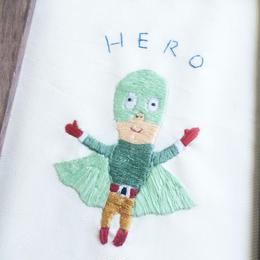 わたしのヒーロー(刺繍絵)