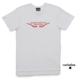 Longlength Feather logo T shirt