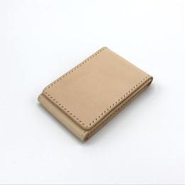 【タテ型】名刺入れ/カードケース ヌメ革:ナチュラル【選べるステッチカラー】(r209)