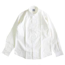 THE BAGGY  OXFORD L/S BD SHIRTS  WHITE オックスフォード ボタンダウンシャツ バギー