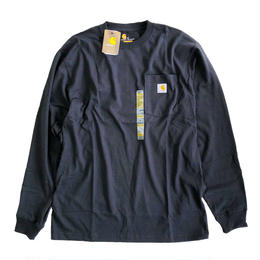 CARHARTT /  L/S WORKWEAR POCKET TEE   BLACK  カーハート 長袖ポケットTシャツ