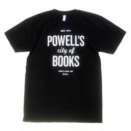 POWELL'S CITY OF BOOKS Writ Large TEE BLACK パウエルズ シティ オブ ブックス Tシャツ スーベニア