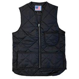 SNAP'N'WEAR /  Quilted Nylon Vest with Kidney Flap BLACK  スナップンウエア キルティング ベスト