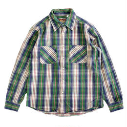 CAMCO(カムコ) HEAVY FLANNEL SHIRTS L/S GREEN ネルシャツ グリーン