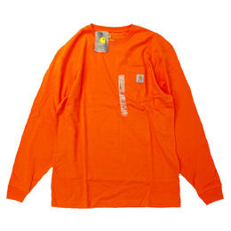 CARHARTT /  L/S WORKWEAR POCKET TEE   ORANGE カーハート 長袖Tシャツ