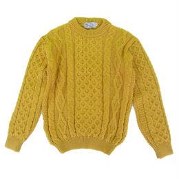 KERRY WOOLLEN MILLS Aran Crewneck Sweater Sunflower   ケリーウーレンミルズ  クルーネック アランニット セーター