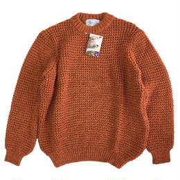 KERRY WOOLLEN MILLS  ケリーウーレンミルズ ニット セーター  Waffle CreNeck Sweater BurntOrange