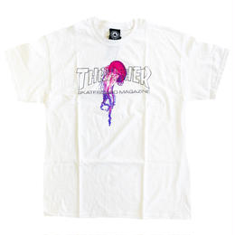 THRASHER  ATLANTIC DRIFT S/S TEE  WHITE スラッシャー Tシャツ