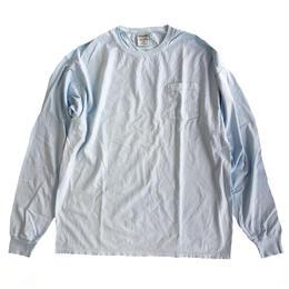 COMFORT WASH BY HANES /  Ringspun Cotton Garment-Dyed TEE 後染め 長袖Tシャツ ヘインズ SOOTHING BLUE